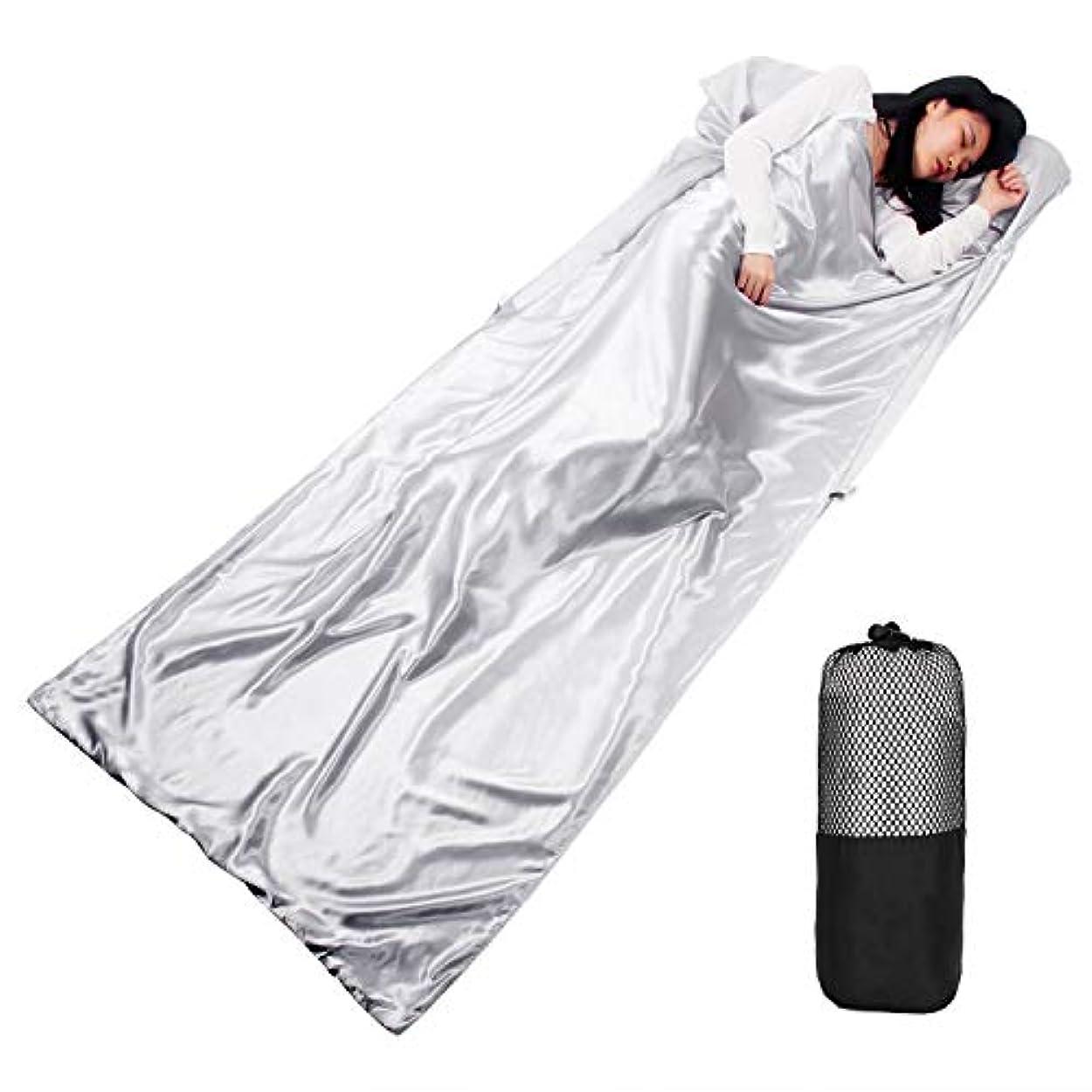 悲劇的なヘビ種をまく寝袋 ライナー 旅行 寝袋 良い 触れる 歩く 防災 テント キャンプ 車 車 地震 災害 収納袋