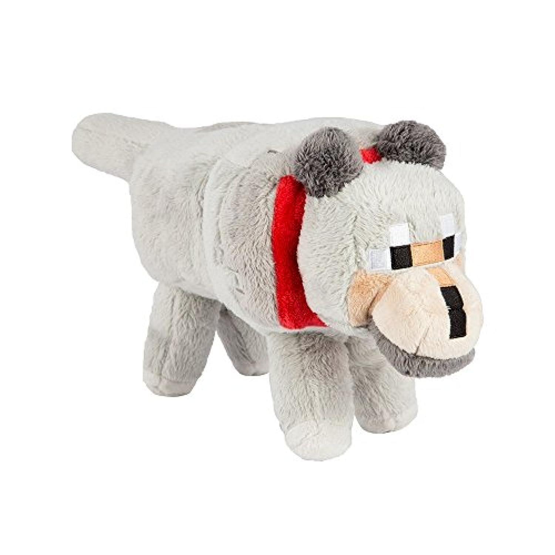 Plush Stuffed Animal :ウルフ、Minecraft、ポリエステル繊維構造。