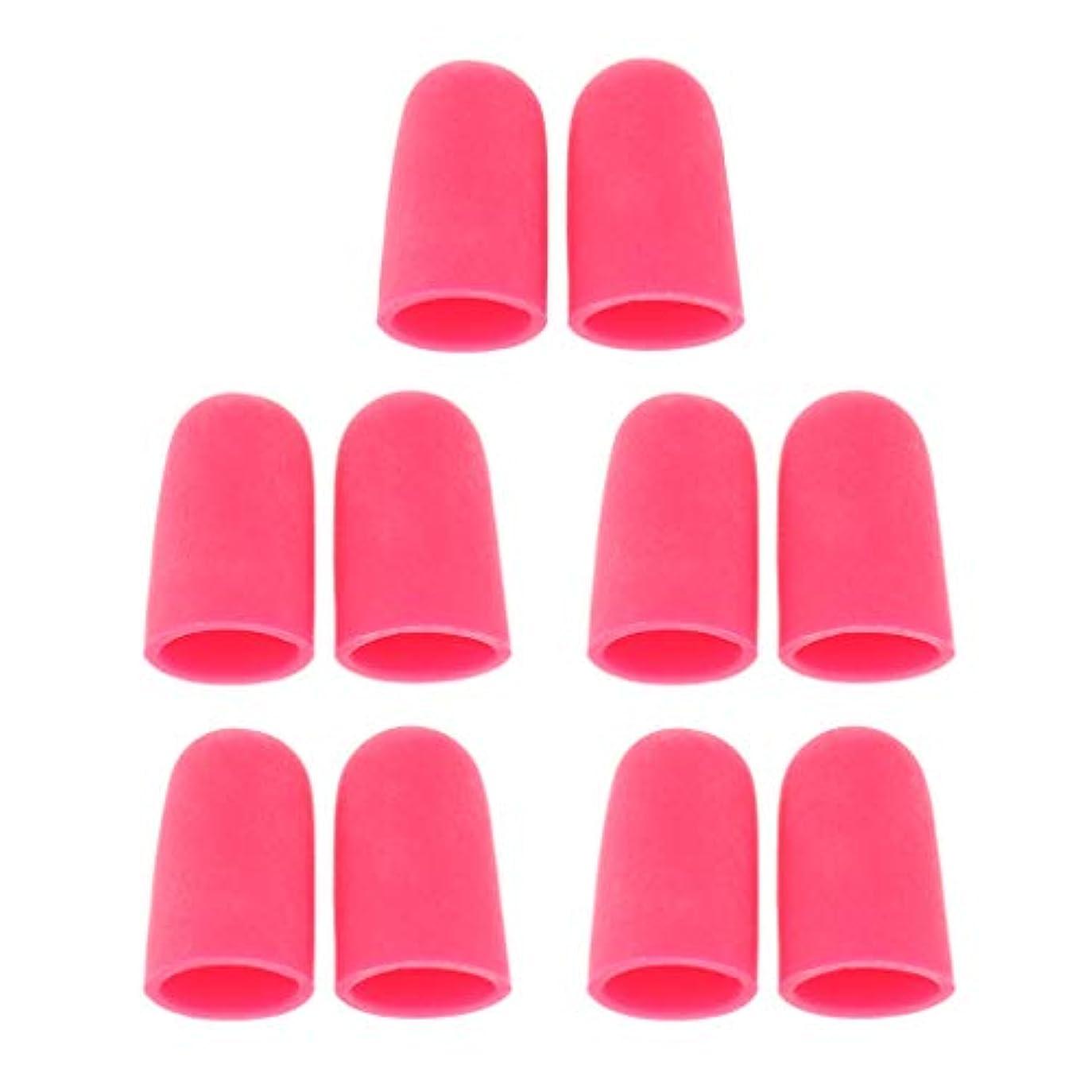 バッテリー意志に反する誘惑5ペア つま先キャップ 足指保護キャップ ジェルトゥキャップ フットケア 柔軟 男女兼用 全2サイズ - S