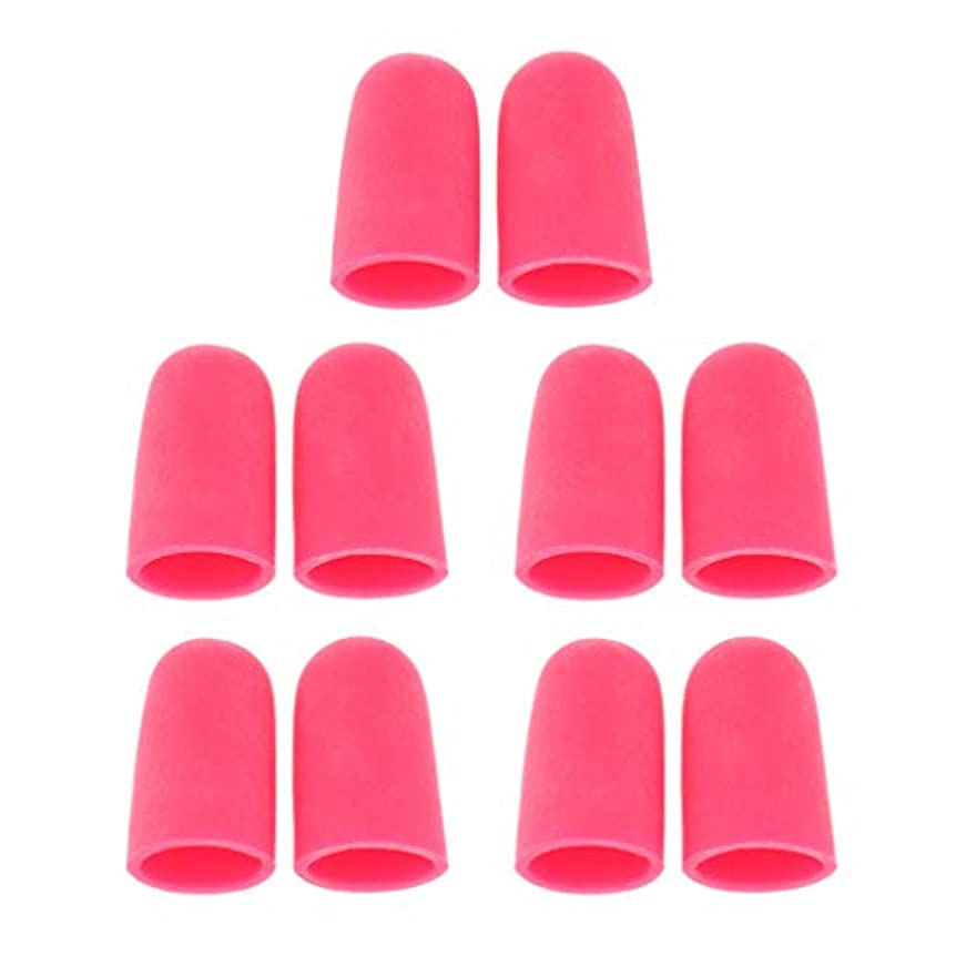 横に無元気5ペア つま先キャップ 足指保護キャップ ジェルトゥキャップ フットケア 柔軟 男女兼用 全2サイズ - S