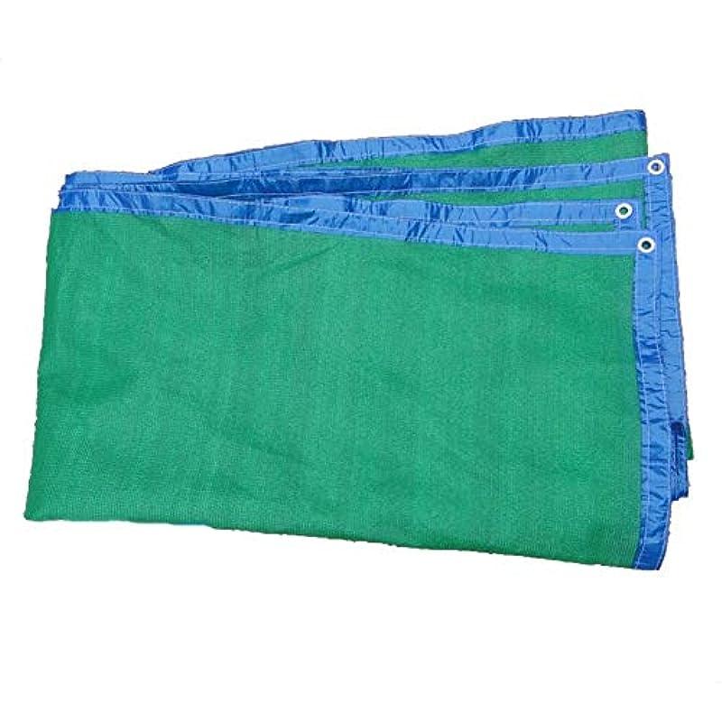 でる苦い囲むグロメットで縁取られたシェードネット、メッシュ ガーデンシェード布、日焼け止めシェード、庭用UV耐性、温室効果ネット、芝生、プール、デッキ ZHAOFENGMING (Color : Green, Size : 4 x 5m)