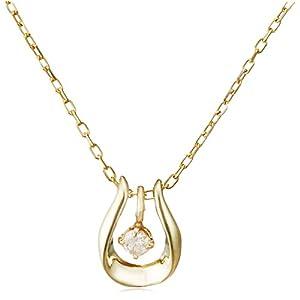 [ディーコレクション] D-COLLECTION 10金イエローゴールドダイヤモンドネックレス 0.03ct DPD50920YG-