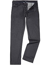 (アルマーニ ジーンズ) Armani Jeans メンズ ボトムス?パンツ ジーンズ?デニム J21 Regular Fit Rinse Black Jeans [並行輸入品]