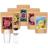 FRUVEGE福袋 チアシード × スムージー (300g×5袋 約250杯分) シェイカー・マイボトルプレゼント中フルベジ アサイー パイナップル ベリー ダイエット食品 置き換え ダイエット 酵素