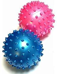 トゲトゲ イガイガボール 2個 セット リハビリ , つぼ押し , マッサージ に 直径約8cm とげとげ ぼつぼつ BE&PK