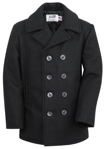 740 Wool Double P-Coat ブラック・黒 アメリカ製 ショット