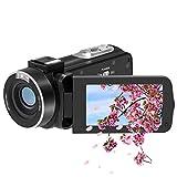 ビデオカメラ 1080P FamBrow 24百万画素3.0インチTFT LCD 270度回転スクリーン16倍デジタルズーム2つのバッテリー付きハンドヘルドカメラレコーダービデオカメラ日本語マニュアル&1年間の保証
