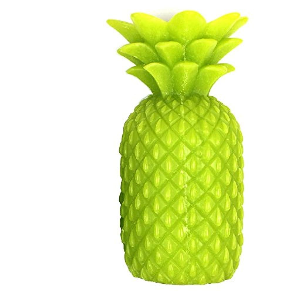 コック見ました放置パイナップルキャンドル L グリーン