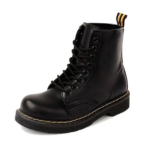 [해외]OvMax 쇼트 부츠 밀리터리 여성 레이스 업 부츠 가죽 하이 컷 미끄럼 방지/OvMax short boots Military ladies lace up boots real leather high cut slip prevention