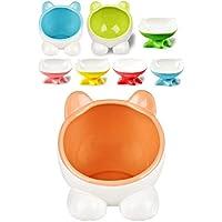 VIVIPET ペット 猫 犬 皿 ボウル 給水 給餌 食器 餌やり 水やり 滑り止め 陶製 セラミックス 猫耳 FDA食品ラベル ピンク 全三色
