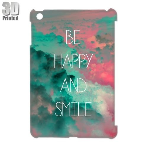 Be Happy and Smile Personalized 3d耐久性ハードバックカバーケースfor Ipad Mini ホワイト