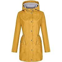 Bloggerlove Rain Jacket Women Windbreaker Striped Climbing Raincoats Waterproof Lightweight Outdoor Hooded Trench Coats S-XXL