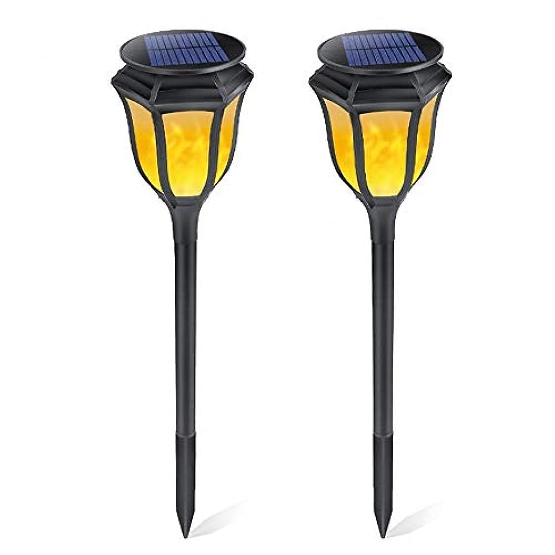 変なはげうまくやる()FXJDD 2個ヴィンテージスタイル96LEDソーラーライト防水ガーデントーチライト屋外ソーラースポットライト風景装飾照明パティオドライブウェイのための地面のセキュリティトーチライト FXJDD