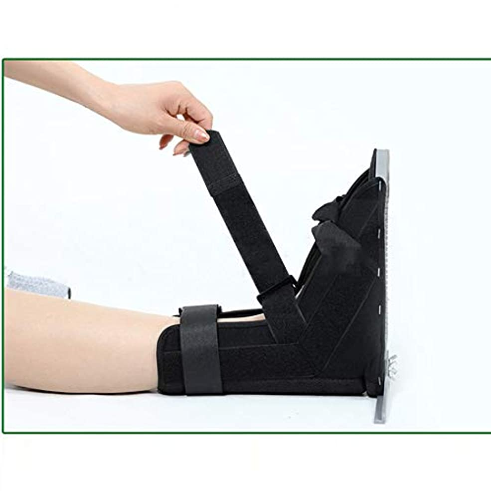 性格古い無効にする医療足骨折石膏の回復靴の手術後のつま先の靴を安定化骨折の靴を調整可能なファスナーで完全なカバー,L