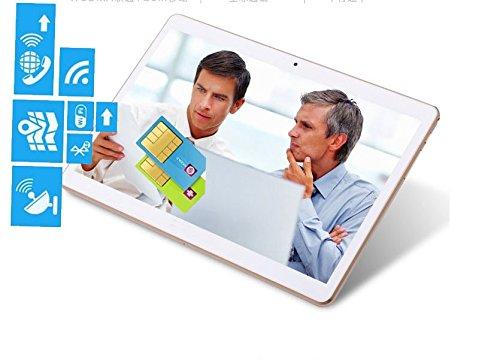 10 inch 3G Phablet Quad Core 32GB ROM 2GB RAM Call Phone Android 7.0 Tablet PC, Unlocked Dual Sim Card Slots, Bluetooth, GPS, WiFi, Resolution 1920x1080 Display Ips Screen AU-107 -White