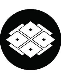 家紋シール 裃四つ目菱紋 布タイプ 直径40mm 6枚セット NS4-3144