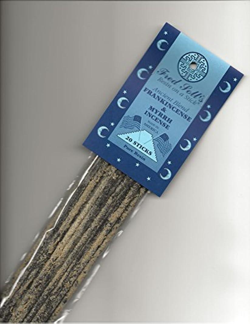 守銭奴使役ムスタチオFred Soll 's Frankincense & Myrrh、古代ブレンドIncense、20 Sticks