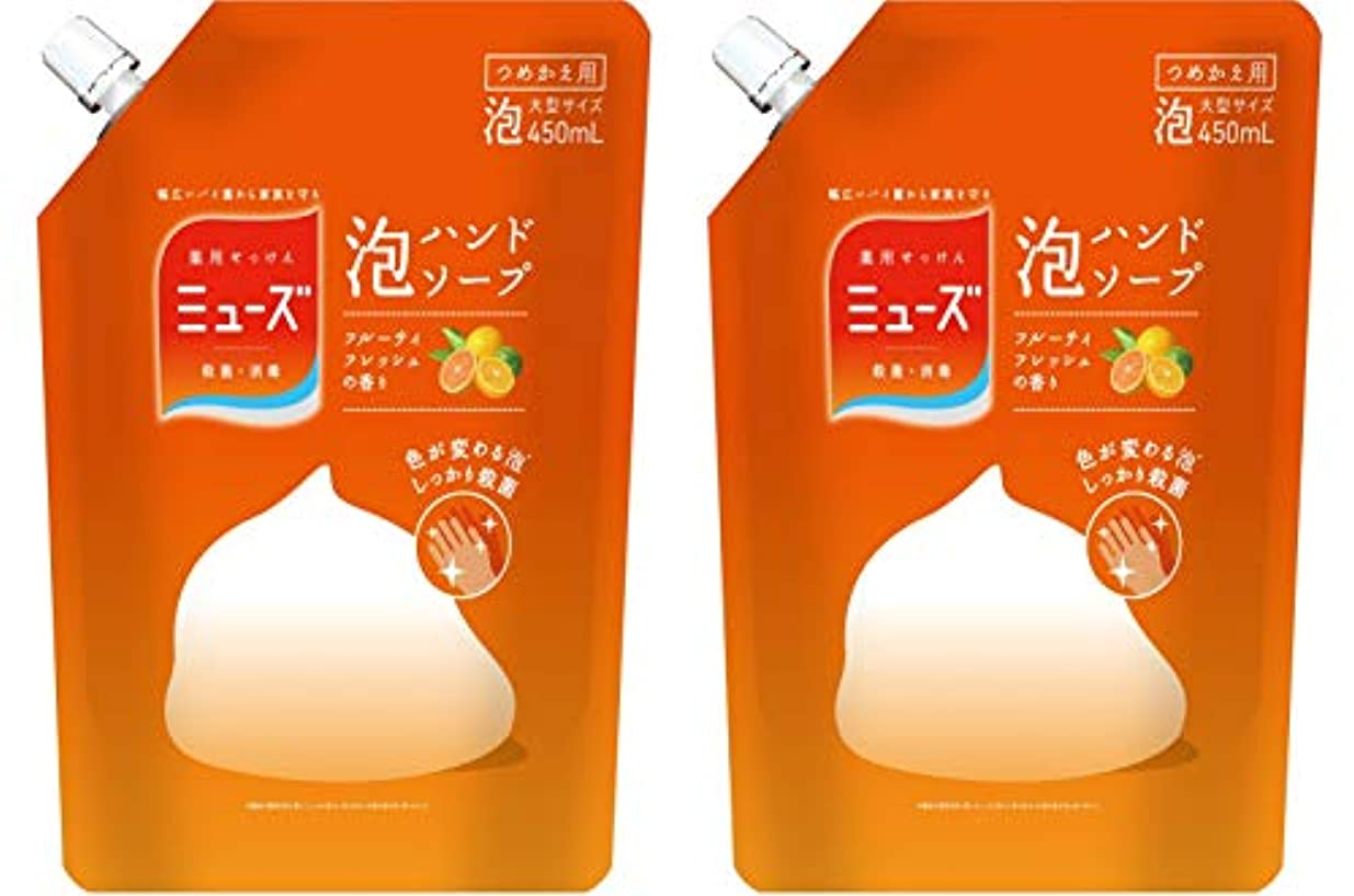 【まとめ買い】ミューズ 泡ハンドソープ フルーティフレッシュ 大型詰替 ×2セット
