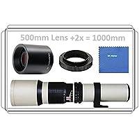 Vivitar 500mm f/8.0 マニュアルフォーカス望遠鏡レンズ(ホワイト)+1000mm テレコンバーター x2:Olympus PEN E-P1, E-P2, E-P3, E-P5, E-PL1, E-PL2, E-PL3, E-PL5, E-PL6, E-PL7, E-PM1, E-PM2, OM-D E-M1, E-M5, Mark II, E-M10 (MFT) Panasonic Lumix DMC, G1, G2, G3, G5, G6, G10, G6KK, GF1, GF2, GF3, GF3KK, GF3CK, GF5, GF5KK, GF5KR, GF5XR, GF6, GF6KK, GF7, GF7KK, GH1, GH1K, GH2, GH2KK, GH3, GH3K, GH4, GH4KBODY, GM1, GM1K, GM1KD, GM1KS, GM5, GM5KR, GX1, GX7, GX7KK, GX7K (マイクロ 4/3 マウント) コンパクトシステムカメラ用