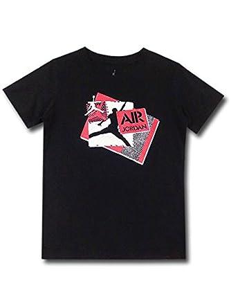 Amazon | (Jordan)ジョーダン 子供服 エアジョーダン Tシャツ (4 (3-4歳頃 96cm-104cm), 黒赤白) [並行輸入品]  | ボーイズ 通販
