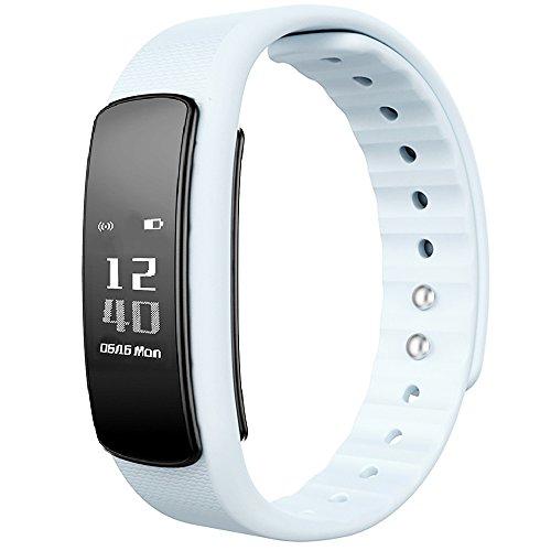 日本公式ライセンス取得商品日本語対応 PMJ iWOWNfit i6 HR ((アップデート対応版)) 活動量計 スマートブレスレット〔iPhone&Android対応〕/24時間自動測定・健康サポート・歩数計・心拍計・睡眠計・有機EL・IP67防水防塵・Bluetooth4.0/日本語アプリ管理・日本語ガイド・1年間保証書完備≪国内操作設定サポート付き≫(HR ホワイト)