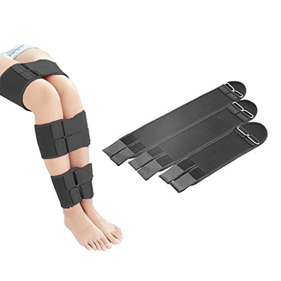 汚れる寛大さフィッティング脚、脚に最適な3本のストラップ、ストレッチ素材、通気性、美しいヒップ、調節可能、脚X脚O脚。,Black,L