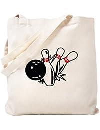 CafePress – Bowling – ナチュラルキャンバストートバッグ、布ショッピングバッグ S ベージュ 0635835841DECC2