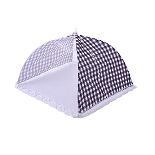 teerfu 3パックテントFoodメッシュ画面食品カバーテント傘、再利用可能な、折りたたみ可能なアウトドアピクニックFood Coversメッシュ、食品カバーNet Keep Outハエ、バグ、Mosquitoesサイズ32cm Length 32cm 101-624-Blackgrey-Small-3P