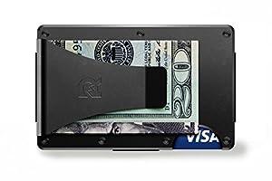 [ザ リッジ] the RIDGE スマートフォンよりも薄い財布 マネークリップ アルミニウム ブラック