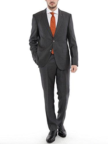 (ヒューゴボス) HUGO BOSS ミニチェック シングル ジャケット ノータック スラックス スーツ S120 [HBJS10202926] [並行輸入品]