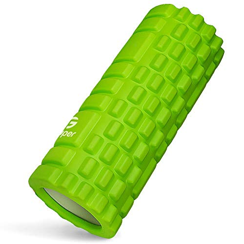 フォームローラー 筋膜リリース KOOLSEN グリッドフォームローラー ヨガポール トレーニング スポーツ フィットネス ストレッチ器具 (グリーン)