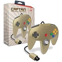 "Hyperkin ""Captain"" Premium Controller for N64 (Gold) - Nintendo 64"