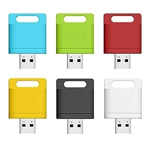 WiFi メモリ SDカード カードリーダー microSD USBフラッシュドライブ iPhone iPad Android Windows スマホメモリ ◇ZSUN-WIFI (グリーン)