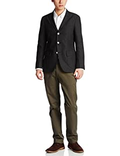 Polyester Cotton Hopsack Blazer 3122-186-0414: Black