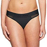 Calvin Klein Women's Tonal Logo Mesh Thong