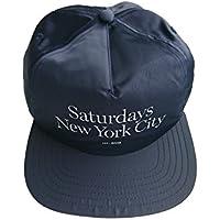 17SS SATURDAYS SURF NYC MILLER LOGO CAP (NAVY KHAKI)  / サタデーズサーフ ミラースタンダード ロゴ ベースボールサテンキャップ ハット