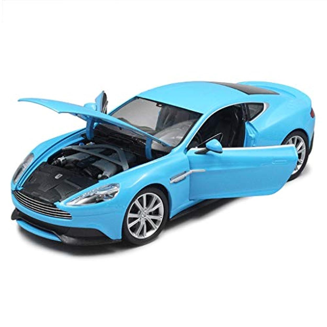 住む豆腐衝突コースHyzbカーモデルカー1:24 Aston Martin Vanquishシミュレーション合金ダイカスト玩具ジュエリースポーツカーシリーズジュエリー18x8x4.5CM