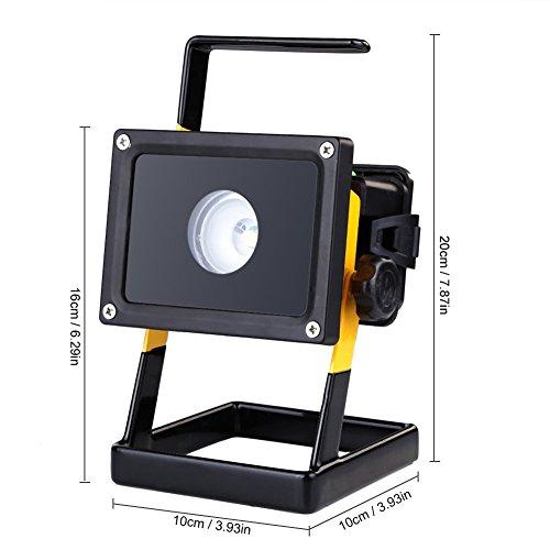 Momiji LED投光器 ポータブル作業灯 CREE XM-L2 ハイパワーLED投光器 30W 2500LM LED 充電式 ポータブル投光器 コードレス 作業灯 ホワイト 防水 角度調整