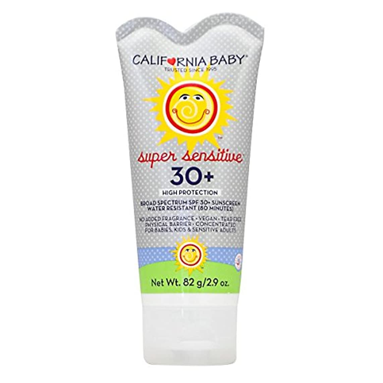 ライブアクティビティ苦行カリフォルニアベビー日焼け止めクリームSPF30 超敏感肌用82g