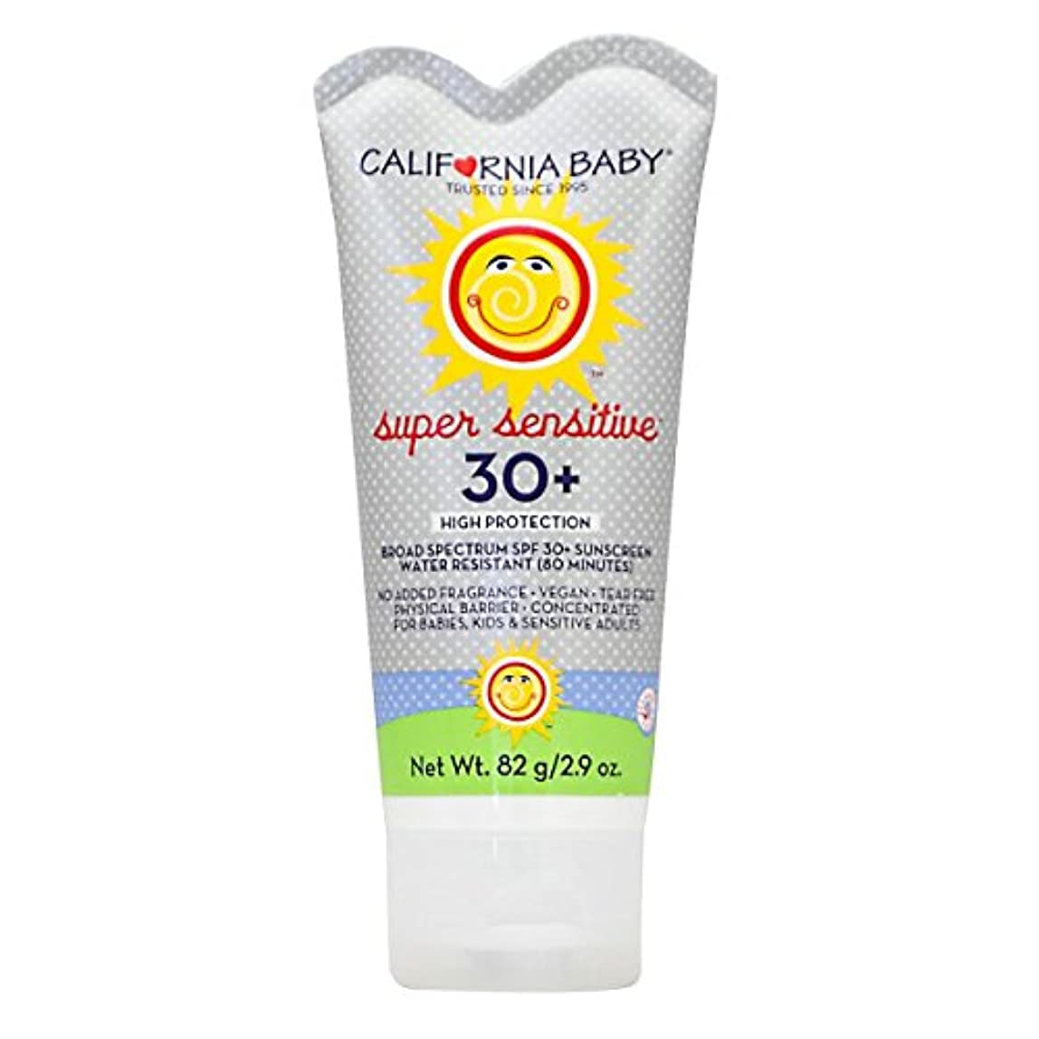 アンデス山脈ピュー素晴らしい良い多くのカリフォルニアベビー日焼け止めクリームSPF30 超敏感肌用82g