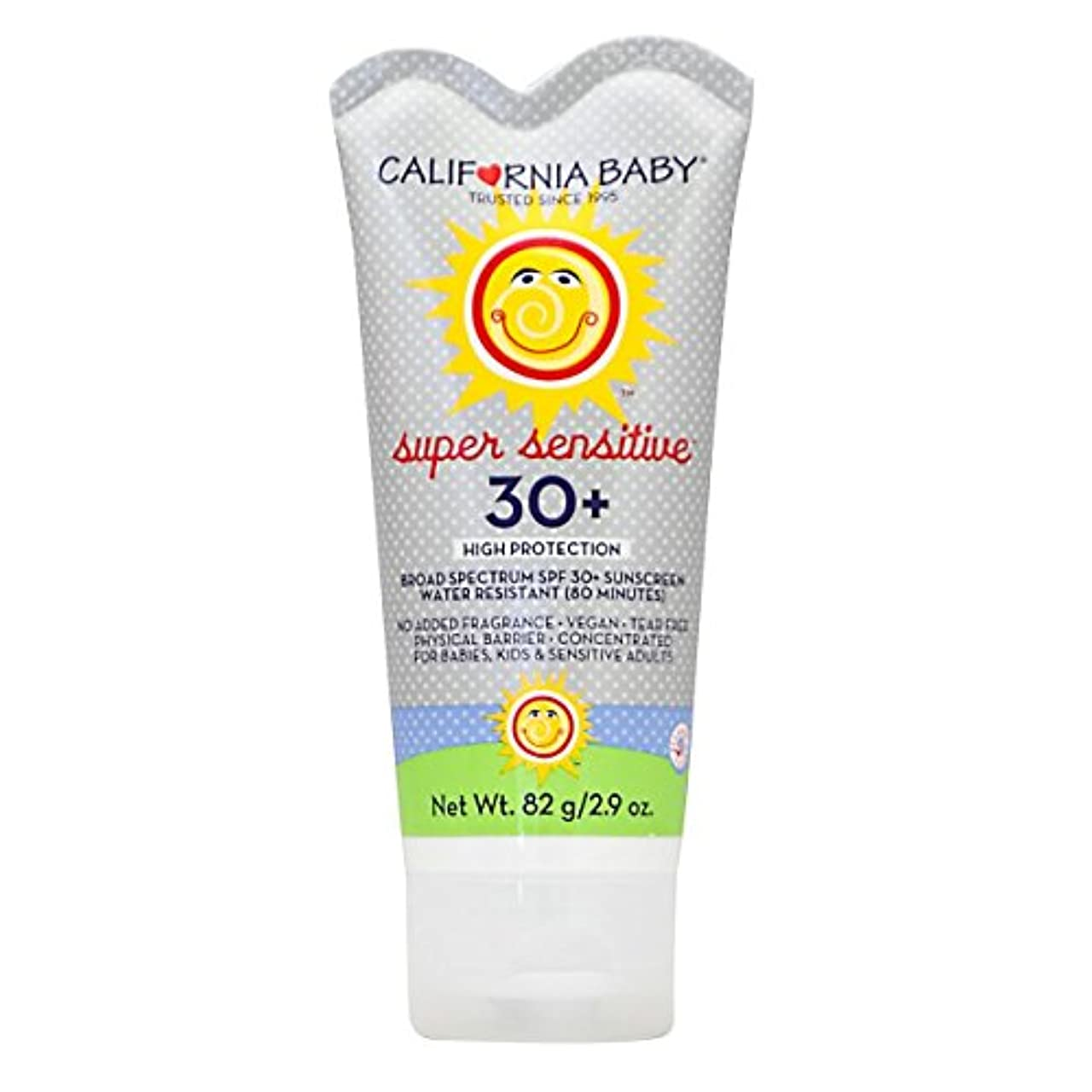 偽物ましい六分儀カリフォルニアベビー日焼け止めクリームSPF30 超敏感肌用82g
