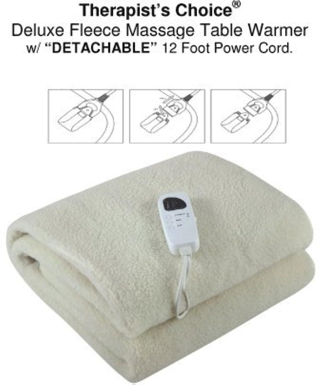 ズームチャンバー抹消Therapist's Choice Deluxe Fleece Massage Table Warmer w/DETACHABLE 12 Foot Power Cord. For Use with Massage Tables...