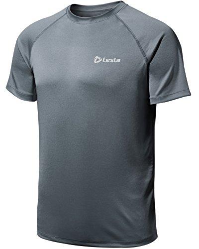 (テスラ)TESLA HyperDri ドライフィット スポーツ シャツ [UVカット・吸汗速乾] アクティブ Cool ドライ ランニング アスリート フィットネス トップ MTS03