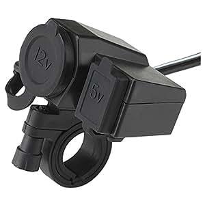 【YOMI】バイク用 USBポート スイッチ付き 防水 電源 USB電源 充電器 電源ポート バイク ハンドル 用 シガーソケット電源 汎用取り付けセット USBチャージャー