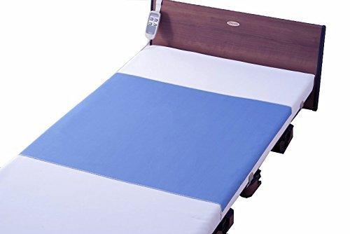 【Tetote】耐熱デニム防水シーツ ブルー 90×170㎝[しっかり巻き込みサイズ] 施設乾燥機可能