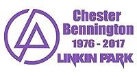【全16色】人気!リンキン・パーク/Linkin Park/チェスター・ベニントン/Chester Bennington/Linkin Park RIP Chester car sticker-1/サイン/カー ステッカー/Car/車用/シール/ Vinyl/Decal /バイナル/デカール (紫) [並行輸入品]