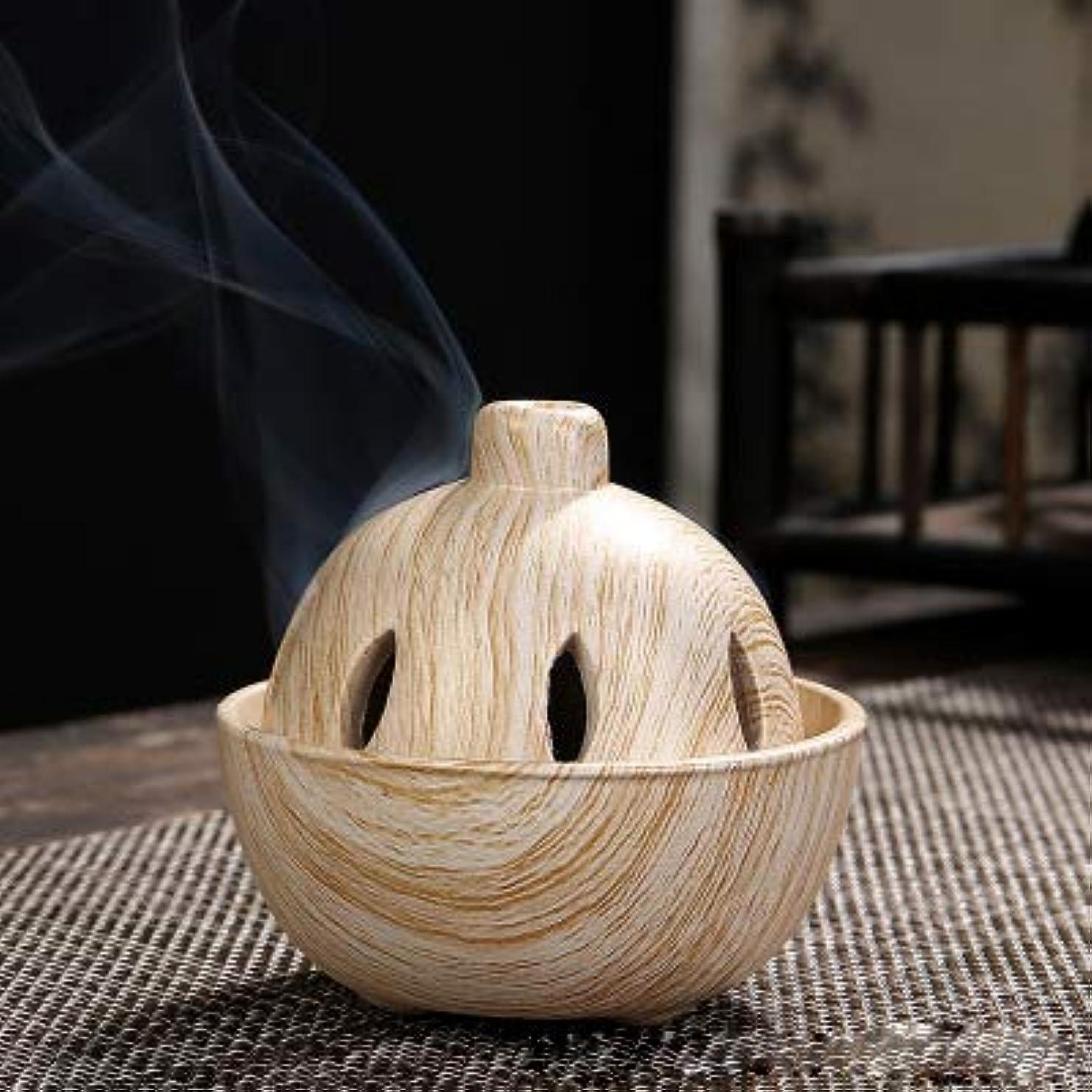 正確さ風変わりな成功したPHILOGOD 陶器香炉 クリエイティブスタイリング 仏壇用 渦巻き線香立て 香皿 (Brown)