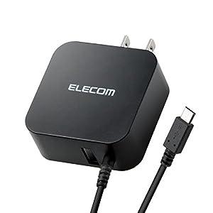 エレコム 充電器 ACアダプター マイクロUSB 【iPhone & iPad & Android & IQOS & glo 対応】 折畳式プラグ USBポート×1 (2.4A出力) 1.5m ブラック MPA-ACM01BK