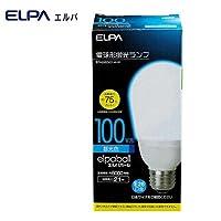 定格寿命 約6000時間と長持ち ELPA エルパ 電球形蛍光ランプ 3波長形昼光色 100W形 EFA25ED/21-A101