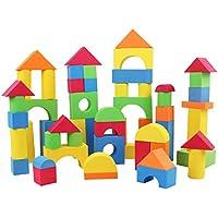 Z ZHIZU カラフルな組み立ておもちゃ 子供用 非毒性 ソフト 軽量 EVAフォーム 組み立てブロック クリエイティブな組み立てブロック アソートカラー 様々な形の教育玩具 幼児用 zzSBBlock92